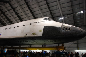 Space Shuttle Endeavour in it's new home