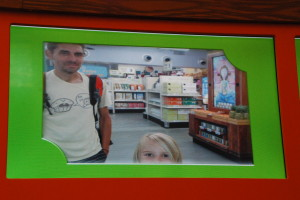 "Playing the super market game... We were caught on their ""winners camera"""